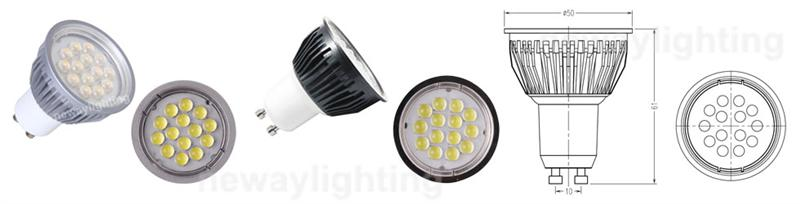 3W GU10 LED Spotlight Pictures