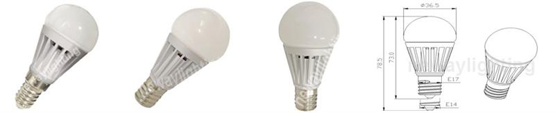 5W E14 LED Bulb Pictures
