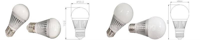 6W E27 LED Bulb Light Pictures