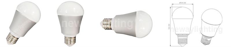 7 Watt Super Bright LED Light Bulb 60A Pictures