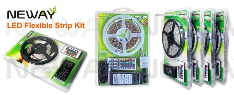 3528 30 LEDs/M LED Flexible Strip Kit and Package
