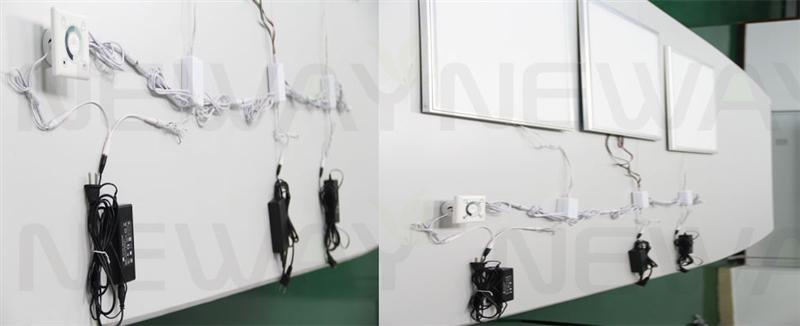 83W 1195*295 LED Panel Light DMX512 Control System and Brightness and Colour Temperature Dimmable Remote Control