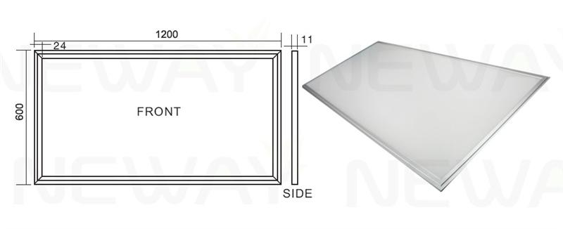 83w 2x4 Led Drop Ceiling Light Panels 2x4 Recessed Led