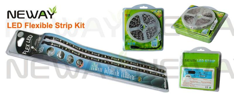 3020 120 LEDs/M LED Flexible Strip Kit and Package