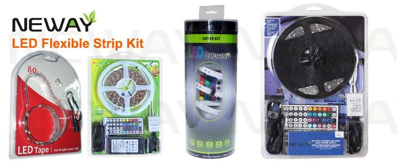 5050 60 LEDs/M LED Strip Light Kit and Package