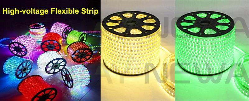 High Voltage LED Flexible Strip Picture and Description