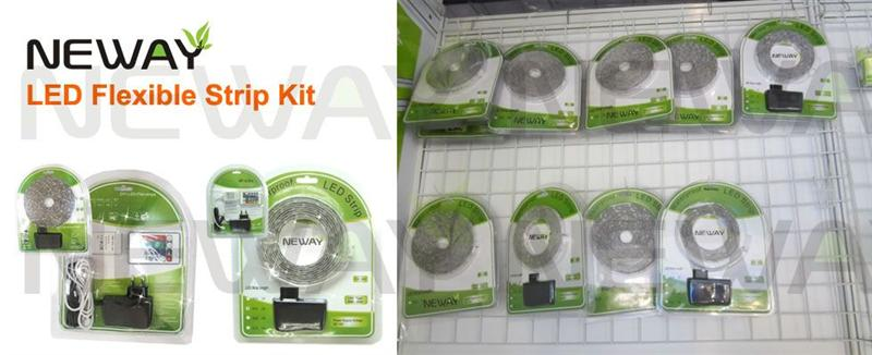 60LEDs/M 3528 Waterproof Flexible LED Strip Light Kit and Package