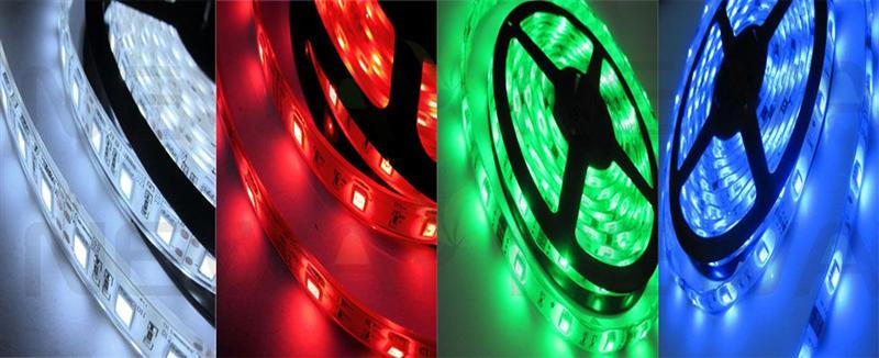 9LED 4 Strips 5050 DIY RGB LED Strip Kit Pictures