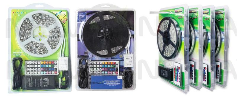 5050 LED RGB Colour Changing Flexible Strip Light Kit and Package