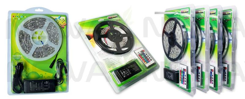 60LED/M Flexible 5050 SMD LED Strip Kit Lighting and Package