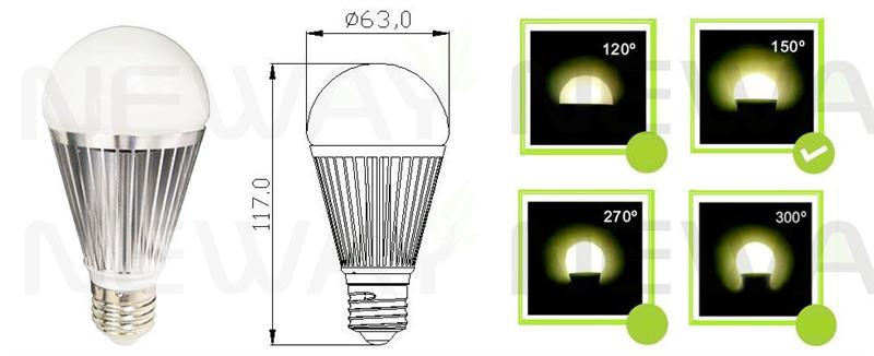 7W Samsung SMD 5630 LED Bulb Pictures