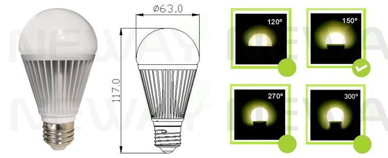 8W 5630 SMD LED Light Bulb Review Pictures