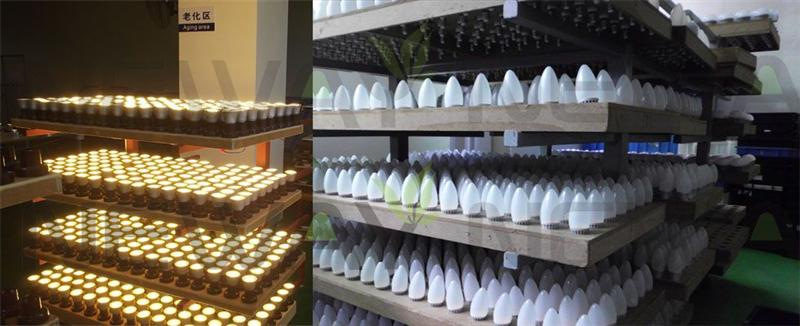 5W Dimmable LED Candle Bulb Quality Inspection
