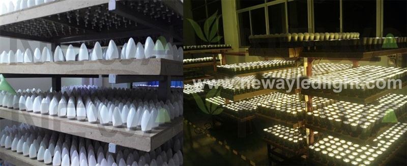5W E17 Dimmable LED Candle Light Quality Inspection