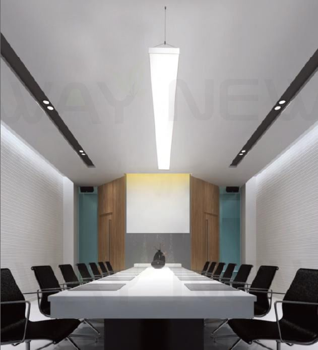 Led Light Fittings For Offices: Suspended 1M 54W Linear Panel LED Pendant Light,Indoor