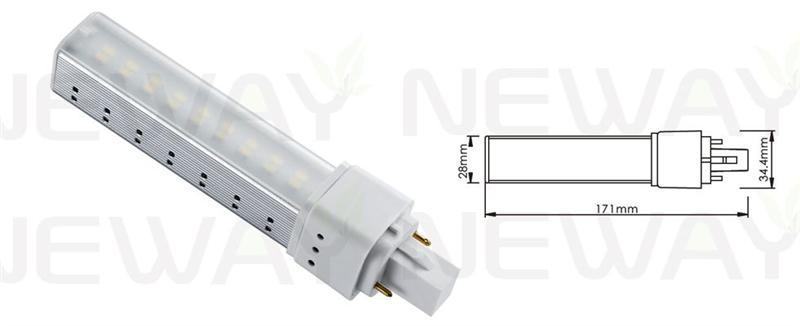We are professional 10W G24 Lamp Holder LED PLC Light Bulb replace 26W CFL, 10W G24 Lamp Holder LED PLC Light Bulb,10Watts G24 Plug in PLC LED Bulb, 10W LED PLC Light Bulb replace 26W CFL manufacturer and supplier in China. We can produce according to your requirements. For more information of 10W G24 Lamp Holder LED PLC Light Bulb replace 26W CFL, please Contact us directly. Applications:Bar lighting, hotel decoration, home lighting, lamps lighting, engineering lighting, parking lots, restaurants, cafes, clubs, windows, showrooms, art hall, museums and other indoor energy-efficient lighting Places.