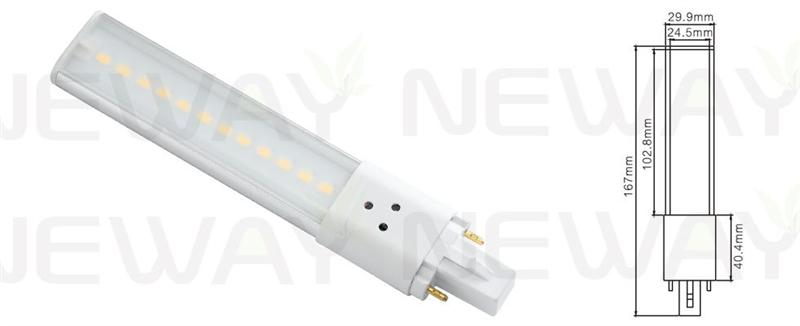 We are professional G23 2pin Plug in 6W LED PLC Lamp Bulb, G23 5W LED PLC Lamp Bulb, 5W 2pin Plug in LED G23 PLC Lamp, 5W Plug in LED G23 Light Bulb manufacturer and supplier in China. We can produce according to your requirements. For more information of G23 2pin Plug in 6W LED PLC Lamp Bulb, please Contact us directly. Applications:Bar lighting, hotel decoration, home lighting, lamps lighting, engineering lighting, parking lots, restaurants, cafes, clubs, windows, showrooms, art hall, museums and other indoor energy-efficient lighting Places.