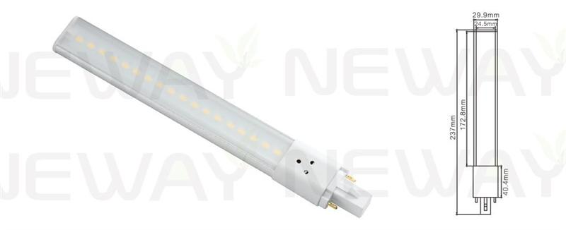 We are professional 8Watts SMD G23 2pin Plug in Socket LED PLC Light Bulb, 8Watts G23 LED PLC Light Bulb, 8W SMD 2pin Plug in Socket LED G23 Lamp, 8W G23 2Pin LED PLC Lamp manufacturer and supplier in China. We can produce according to your requirements. For more information of 8Watts SMD G23 2pin Plug in Socket LED PLC Light Bulb, please Contact us directly. Applications:Bar lighting, hotel decoration, home lighting, lamps lighting, engineering lighting, parking lots, restaurants, cafes, clubs, windows, showrooms, art hall, museums and other indoor energy-efficient lighting Places.