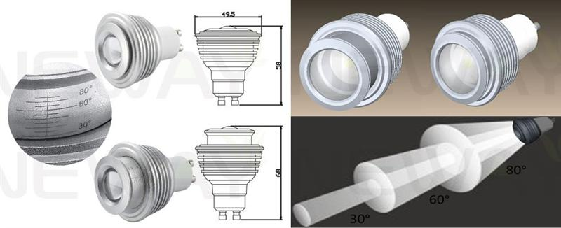 We are professional 5W 220V GU10 LED Spot light 30 to 80 Degree Adjustable Beam Angle,5W 220V LED Spot light, 5W GU10 COB LED Spotlight, 5W 30 to 80 Degree Adjustable LED Spotlight manufacturer and supplier in China. We can produce according to your requirements. For more information of 5W 220V GU10 LED Spot light 30 to 80 Degree Adjustable Beam Angle, please Contact us directly. Applications: A variety of shopping malls, hotels,  KTV, home, a variety of jewelry gold crystal watch boutique counter lighting, museums, galleries, hospitals, Furniture City , laboratories and other local indoor lighting and accent lighting energy saving Places.