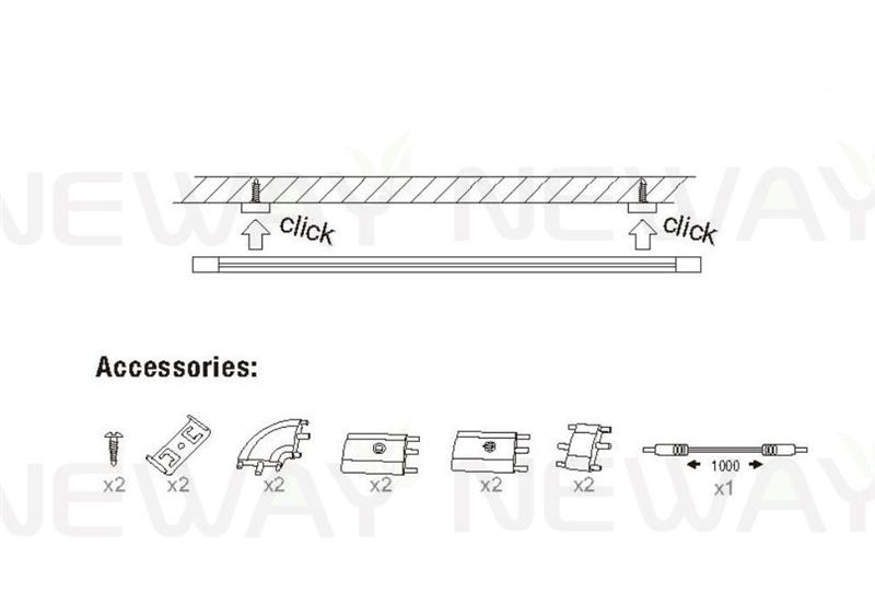 Touch Sensor LED Cabinet Rigid Strip Light 300MM 500MM 700MM 900MM 12V - Install icon