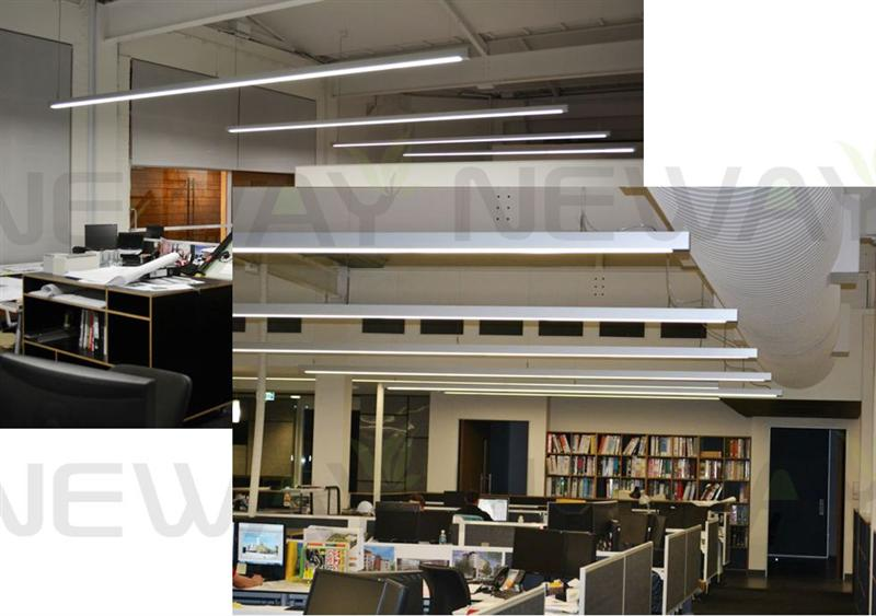 Modern Architectural Linear Suspension LED Luminaire Light 100CM 120CM 150CM - Application Applications: Applicable to all types of high-grade office buildings, creative decor restaurant, department stores, factories, home and other indoor decoration simple and stylish energy-efficient lighting places.