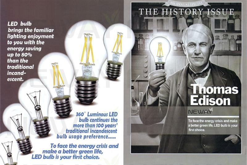 3 5w Led Filament Type Vintage Thomas Edison Light Bulbs