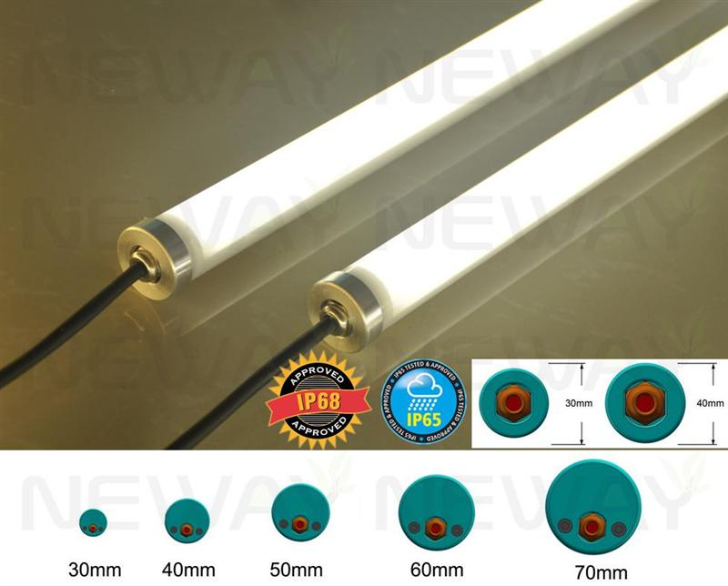 48w Ip65 Waterproof Led Tube Lights 4 Feet 1 2m Waterproof
