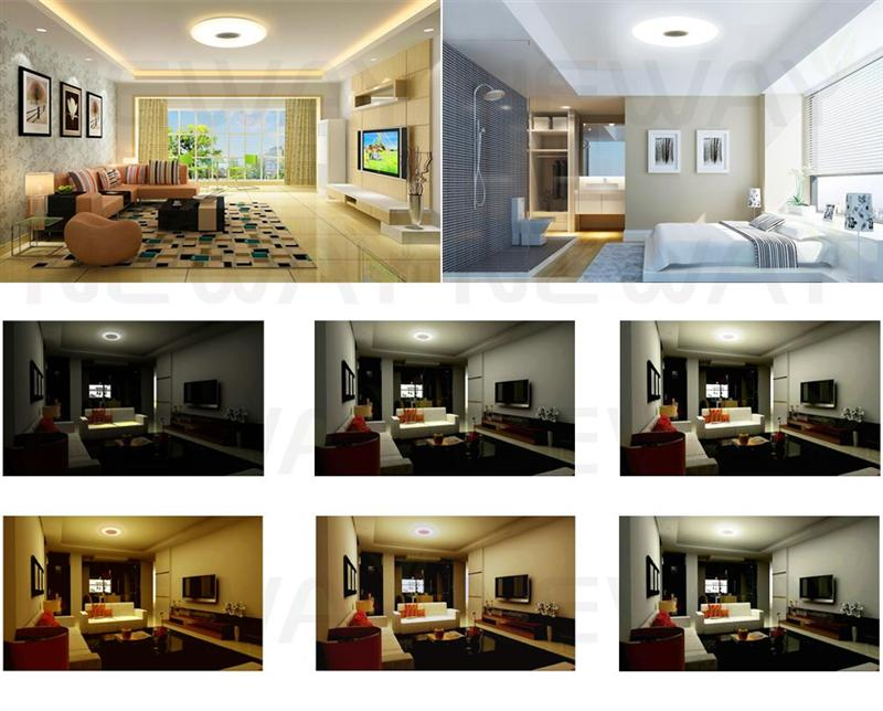 55w Wireless Led Ceiling Lights With Remote Control Dimmable Light Fixtures Surface Mount Color Changing Flush Kitchen