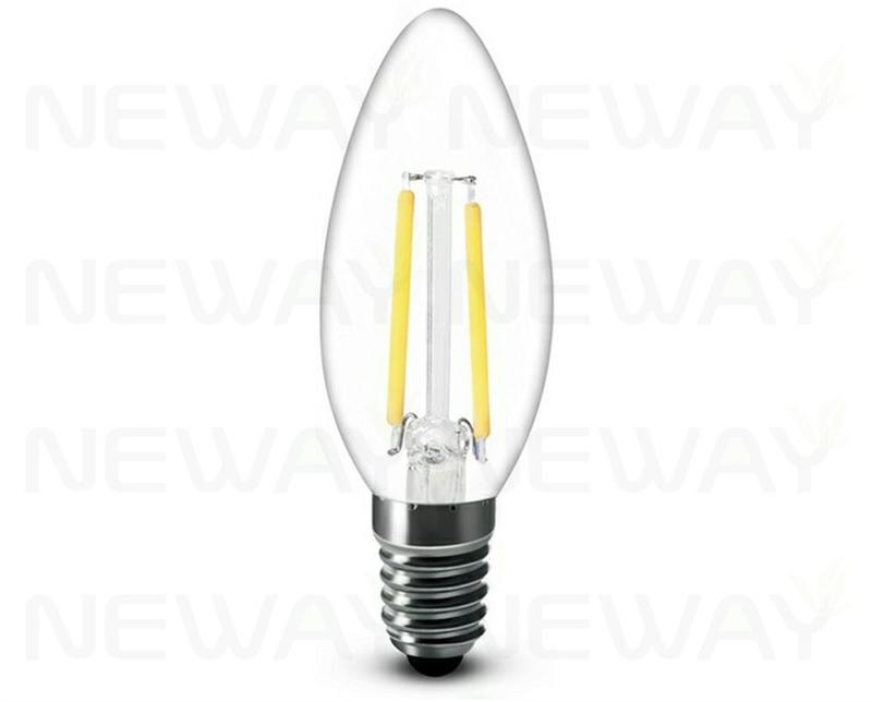 1 8w e14 filament led clear candle bulb 360 degrees. Black Bedroom Furniture Sets. Home Design Ideas