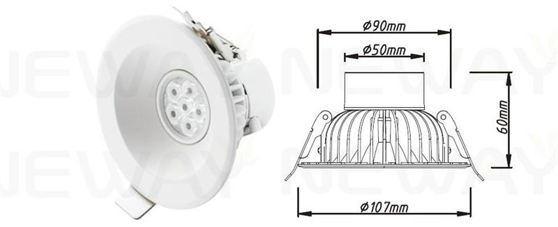 7 Watt Led Office Ceiling Lights Warm White Led Ceiling