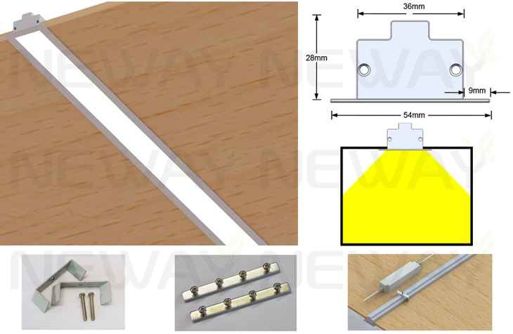 24W 36W 48W 60W Linear Recessed LED Ceiling Light Strip Fixtures LED linear  recessed luminaires office lighting Modern LED Recessed Linear Light Fixture   24W 36W 48W 60W Linear Recessed LED Ceiling Light Strip Fixtures  . Recessed Led Lighting Fixtures Canada. Home Design Ideas