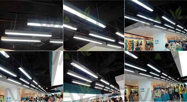 24w 36w 48w 60w Linear Recessed Led Ceiling Light Strip