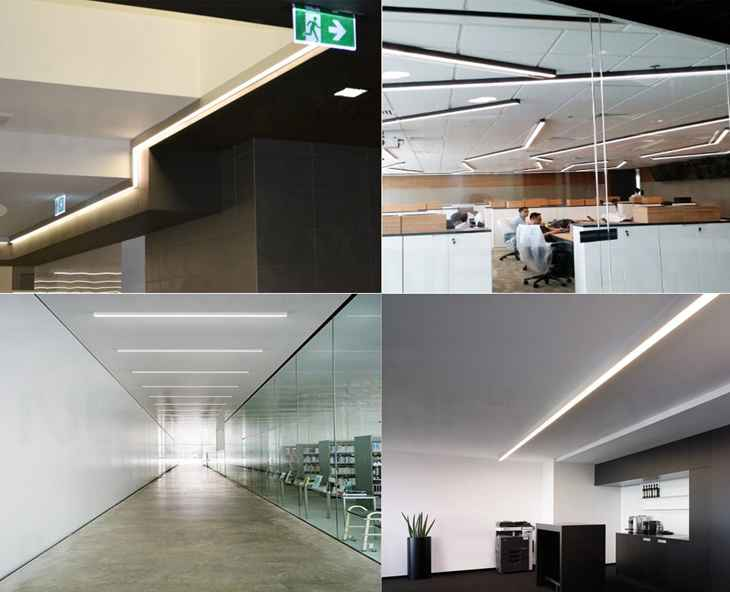 3 Office Ceiling Mounted Linear Suspension Led Ceiling