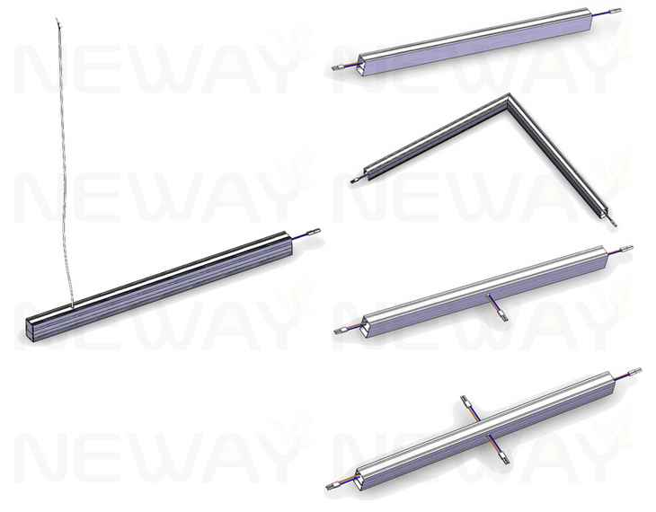 24w 36w 48w 60w suspended linear led ceiling light office