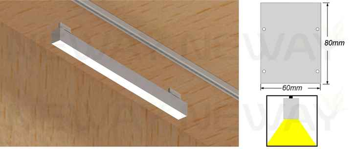 24w 60w track lighting suspension led linear down light track