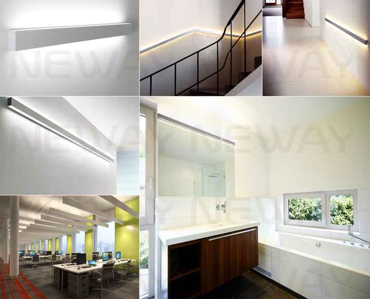 24W60W Linear LED Wall Mounted Direct Indirect LED Lighting 4ft