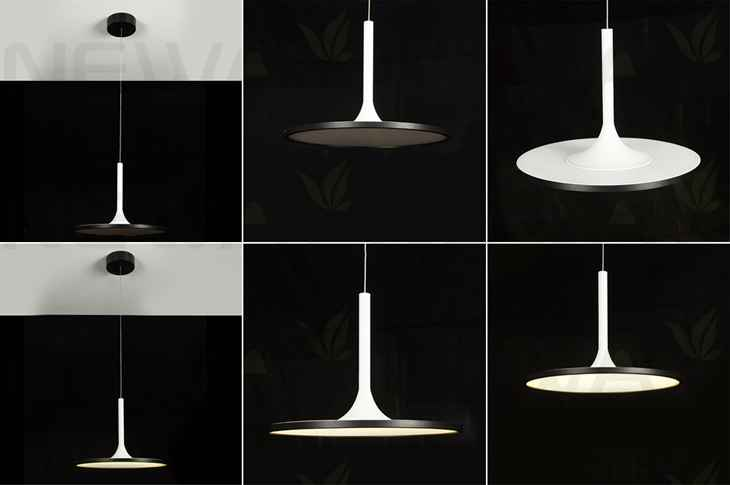 Super thin modern contemporary suspension circle led pendant lighting specifications