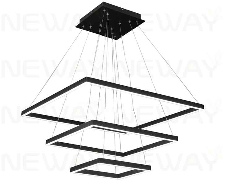 Large Square Contemporary Suspended Architectural Pendant LED Lightssuper Led Lightinghuge Hotel Light