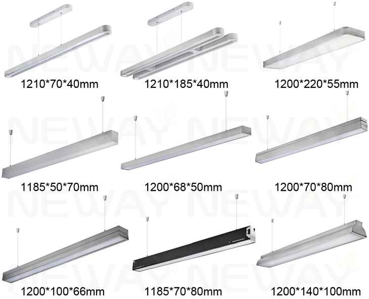 modern italy milano style suspended linear led pendant office