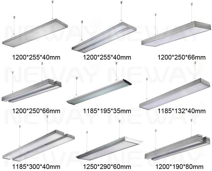 Modern Italy Milano Style Suspended Linear LED Pendant