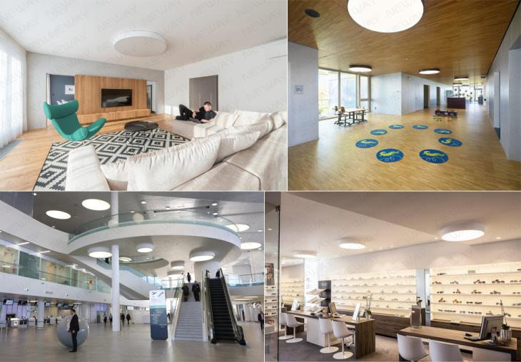 Contemporary Decorative Ceiling Mounting Ring Led Meeting