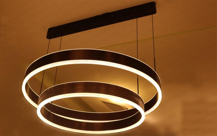 LED Ring Suspension Direct Indirect Lighting Pendant Light