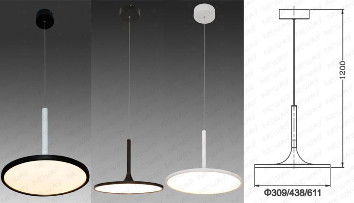 Round Ring Modern Led Suspension Lights Or Suspended