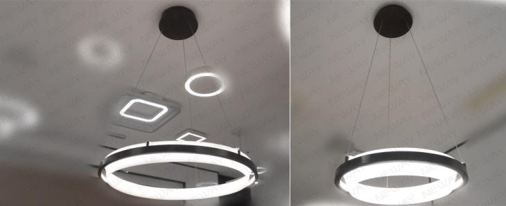 1200mm 900mm 600mm Large Ring Round Pendant Led Lighting