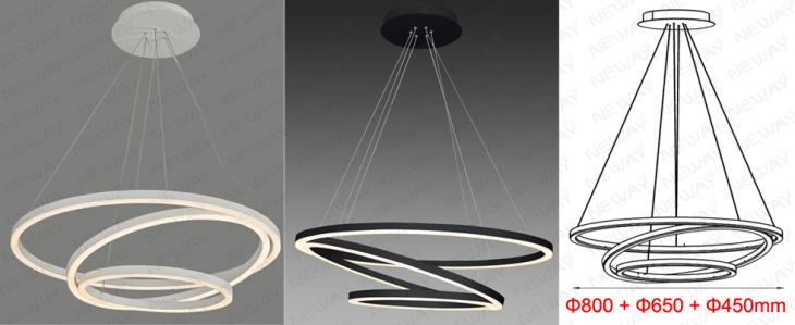 3 rings led suspended lamp architectural lighting pendant luminaire 3 rings led suspended lamp architectural lighting pendant luminaire specifications aloadofball Gallery