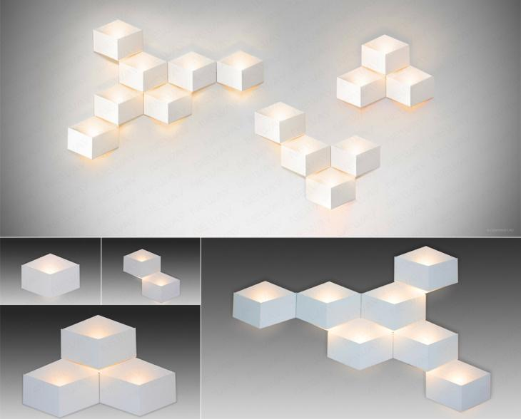 Indoor Decorative Home Bedroom Modern Acrylic Square LED Wall Lamps,New Style Chandeliers Modern ...