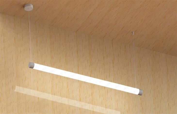 Suspended 1200mm Dia 60mm 30w36w 360deg Linear Tube Led