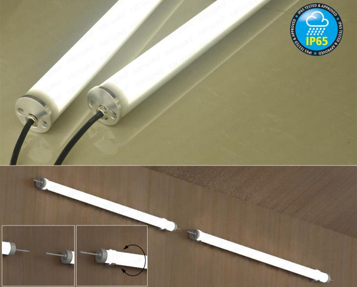 36w48w60w Ip65 Fluorescent Light Fixture Waterproof Led