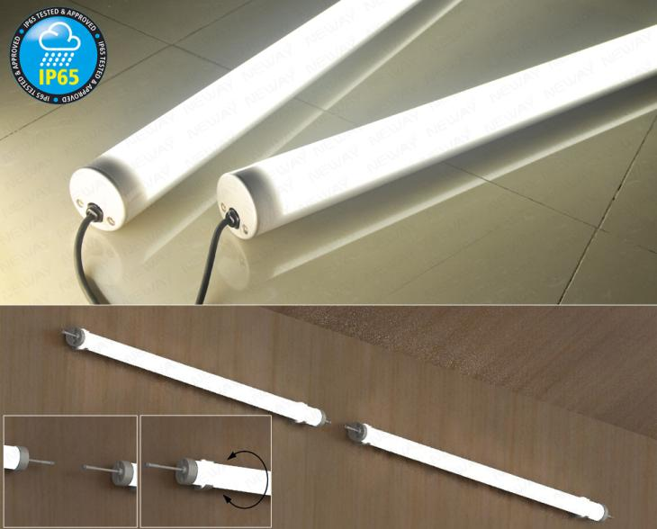 40w50w60w Led Pendant Tube Light Waterproof Ip65 Fluorescent Tube Lamp Led Waterproof Pendant