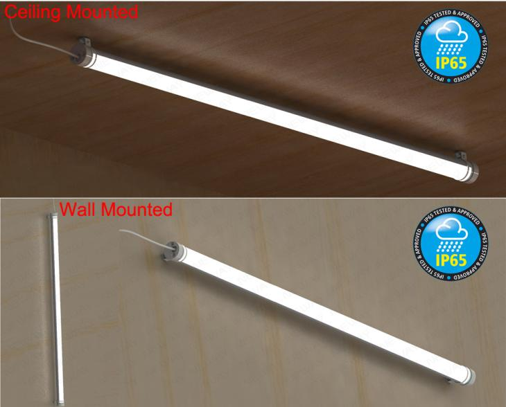 36w48w60w Waterproof Led Ceiling Lighting Fluorescent Tube Light Bulbs Ip65 Waterproof T8